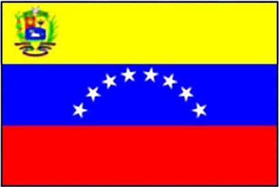 Venezuela mit Wappen FB