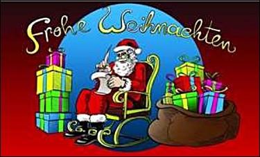 Weihnachten 7: Weihnachtsmann im Lehnstuhl FB