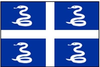 Martinique (inoffiziell) Gastlandflagge