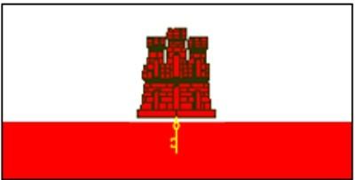 Gibraltar National Gastlandflagge