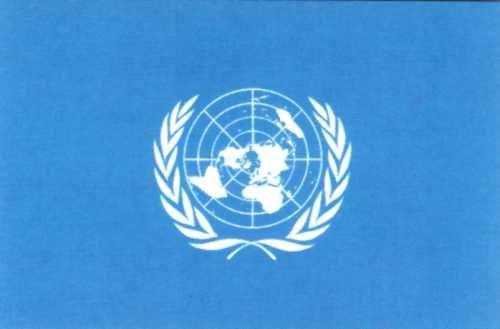 UNO Vereinte Nationen Gastlandflagge