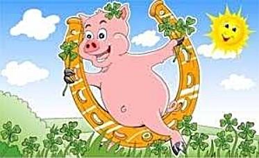 Glücksschwein (mit Hufeisen) FB