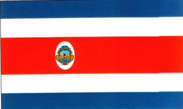 Costa Rica mit Wappen ca. 100 cm x 150 cm