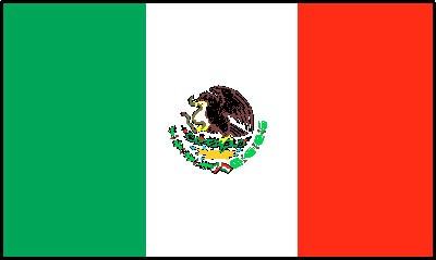 Mexiko Gastlandflagge