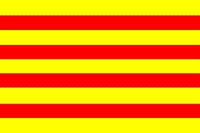 Katalonien Gastlandflagge