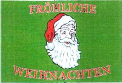 Weihnachten 3: Weihnachtsmann Fröhliche Weihnachten (Querformat)