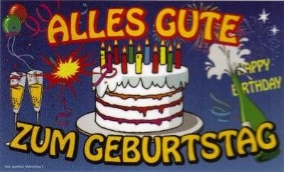 """Geburtstag: """"Alles Gute Zum Geburtstag"""""""