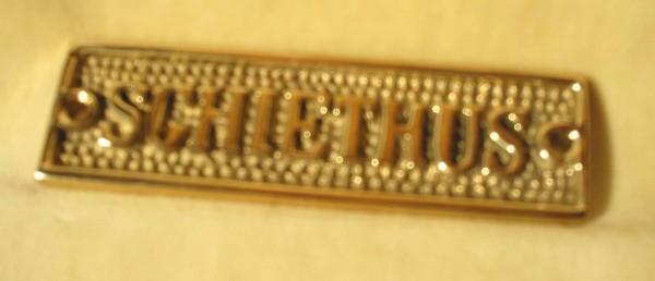 Schild Schiethuis, ca. 9 cm