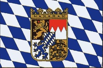 Bayern + Wappen Gastlandflagge