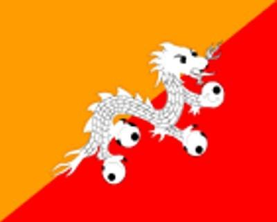 Bhutan Gastlandflagge