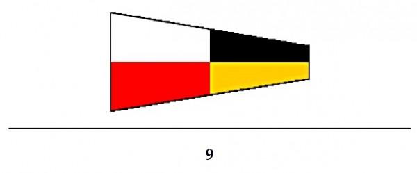 Signalflagge Ziffer 9