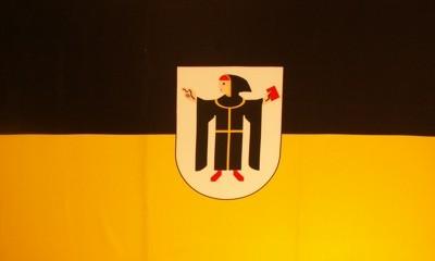 Stadtflagge München mit Wappen