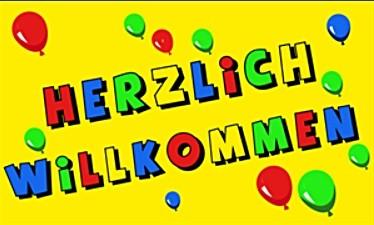 HERZLICH WILLKOMMEN (gelb) FB