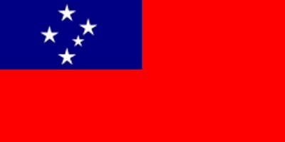 Samoa (= Westsamoa) Gastlandflagge