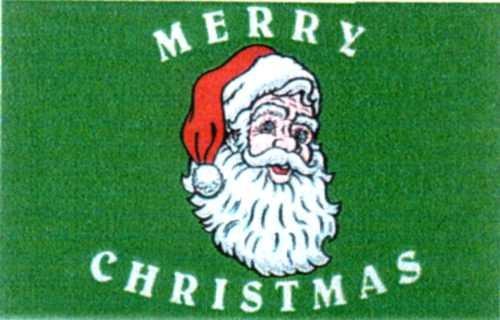 Weihnachten 2: Weihnachtsmann Merry Christmas (Querformat)
