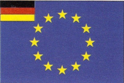 Europa + Deutschland (klein) Gastlandflagge