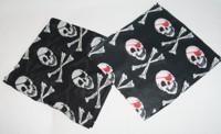 Nicki-Tuch Pirat schwarz - weiß
