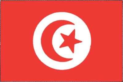 Tunesien Gastlandflagge