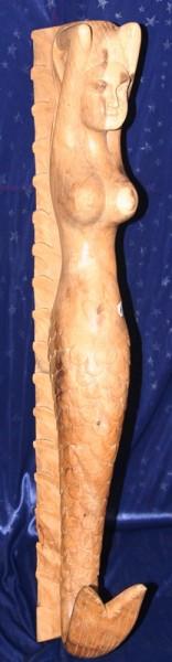 Galionsfigur 13, ca. 62 cm hoch, natur