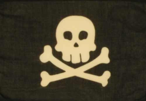 Pirat schwarz (Spaßflagge)
