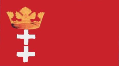 Stadtflagge Danzig (Größe ca. 60 cm x 90 cm)
