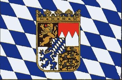Bayern mit Wappen (Größe ca. 60 cm x 90 cm)