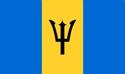 Barbados Gastlandflagge