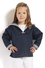 Matrosenhemd blau mit blauem Kragen für Kinder