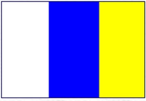 Kanarische Inseln ohne Wappen Gastlandflagge