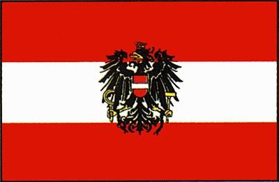 Österreich mit Wappen