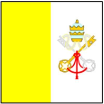 Vatikan mit Wappen Gastlandflagge