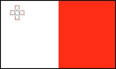 Malta National Gastlandflagge