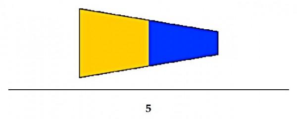 Signalflagge Ziffer 5