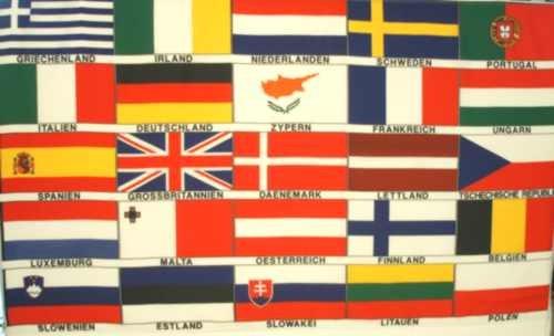 Europa-25-Nationen (Größe ca. 60 cm x 90 cm)