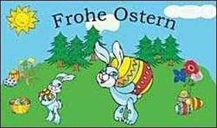 Ostern: Osterhase mit Ei FB