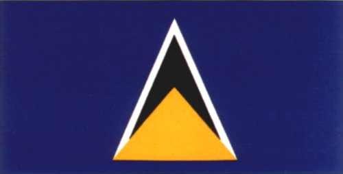 St. Lucia Gastlandflagge