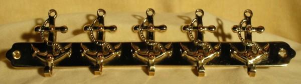 Hakenleiste mit 5 Ankern, Länge ca. 25 cm