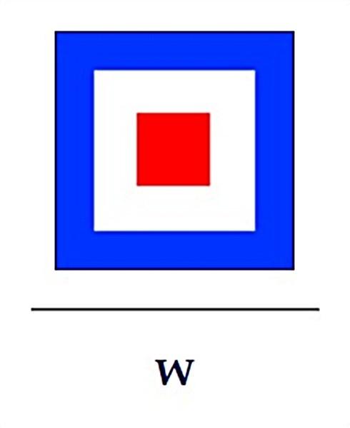 Signalflagge W