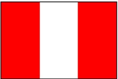 Peru ohne Wappen ca. 100 cm x 150 cm