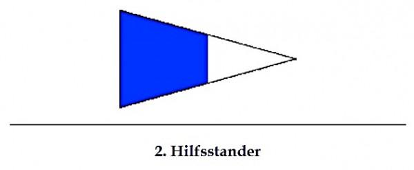 Signalflagge 2. Hilfsstander