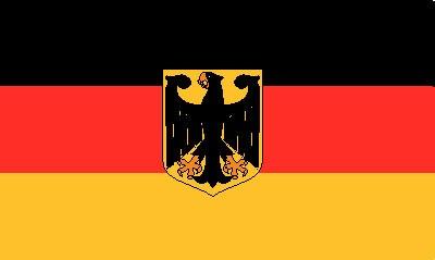 Deutschland mit Adler (Bundesdienstflagge) (Größe ca. 60 cm x 9