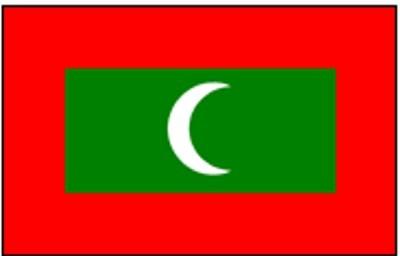 Malediven Gastlandflagge