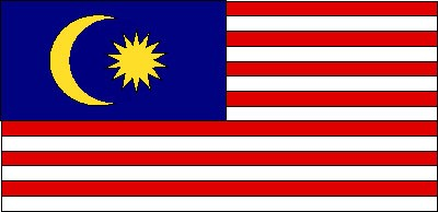 Malaysia Gastlandflagge