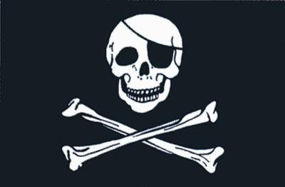 Pirat (schwarz - weiß)