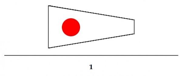 Signalflagge Ziffer 1-Copy