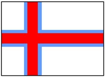 Faröer Inseln ca. 100 cm x 150 cm