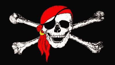 Pirat mit rotem Kopftuch