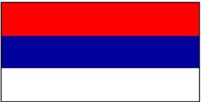 Serbien ohne Wappen (1992 - 2004) Restbestände Gastlandflagge