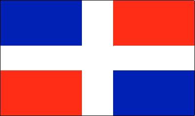 Dominikanische Republik ohne Wappen (Restbestände) Gastlandflagge