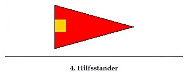Signalflagge 4. Hilfsstander